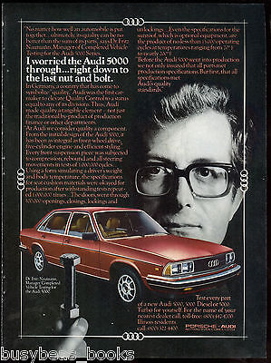 1981 AUDI 5000 advertisement, Audi 5000, Nuts & Bolts, quality testing