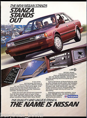 1987 NISSAN STANZA advertisement, Nissan Stanza sedan