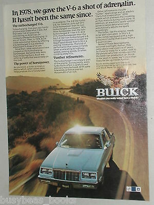 1982 Buick REGAL advertisement page, Buick Regal V6 on sunny road