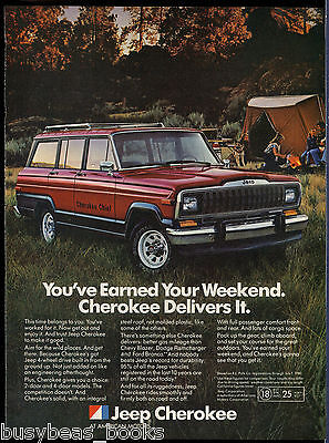 1982 JEEP CHEROKEE advertisement, Jeep Cherokee Chief, American Motors Corp Jeep