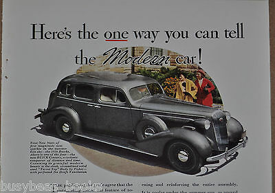 1935 BODY By FISHER advertisement, with 1936 Buick Century sedan, turret top