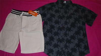 NEW Boys Size 7 7-8 Gymboree Outfit White Shorts & Palm Tree Shirt $51 NWT