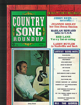 Country Song Roundup July 1969 Jerry Reed Jeannie Seeley Red Lane