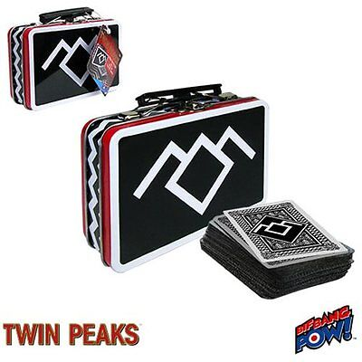 Twin Peaks Mini Lunchbox Tin Tote With Deck Of Twin Peaks Playing Cards
