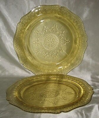 Federal Patrition Spoke 2 Amber Dinner Plate