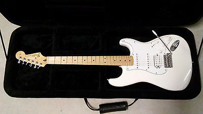 Fender Stratocaster Electric Guitar Mexico Made MIM Arctic White with Case