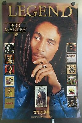 """1990 TUFF GONG BOB MARLEY LEGEND DISCOGRAPHY STORE PROMO POSTER 30"""" x  20"""""""