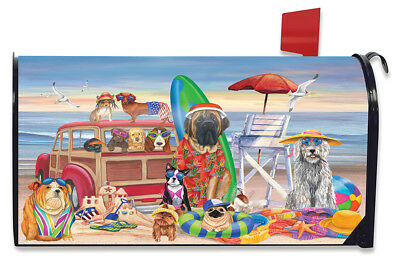 VERY CUTE DOG DAYS OF SUMMER BEACH SHORE PARTY HOUSE FLAG 28X40 BANNER