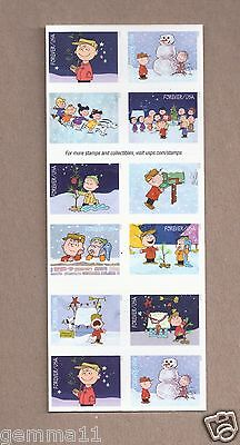 PEANUTS 2015 A CHARLIE BROWN CHRISTMAS BOOKLET OF FOREVER STAMPS Mint
