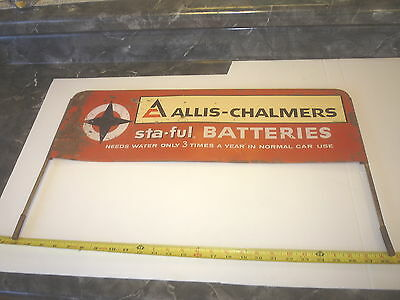 Old  Allis Chalmers Tractor  Battery Farm Sign