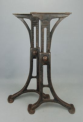 """Industrial Machine Age Steampunk Iron Adjustable Table Legs Base 24"""" Kenney Bros"""