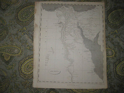 Antique 1805 Egypt Copperplate Map Arabia Middle East Very Detailed Superb Nr
