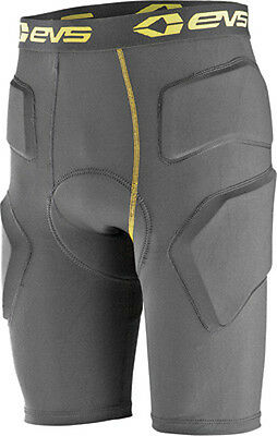 EVS Mens Tug Impact Protective Padded Compression Shorts Medium/Large Black