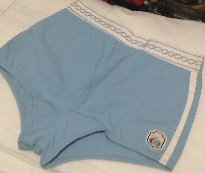 Vintage 1960's JANTZEN Swimsuit Bathing Men's 34 Swim Trunks Light Blue N.O.S.