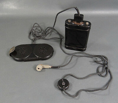 Antique 1920's Siemens&halske Phonophor Headset Hearing Aid Device Ear Trumpet