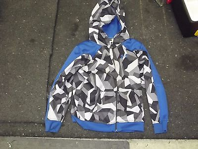 Under armour full zip sweat shirt hoodie Black wht & Blue YMD