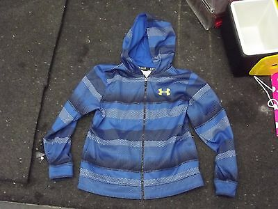 Under armour full zip sweat shirt hoodie blue YLG