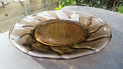 "Brown Fostoria Jamestown 8¼"" Luncheon Plate"