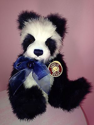 Beautiful Trixie Black & White Panda Bear Charlie Bears Isabelle Lee With Tags