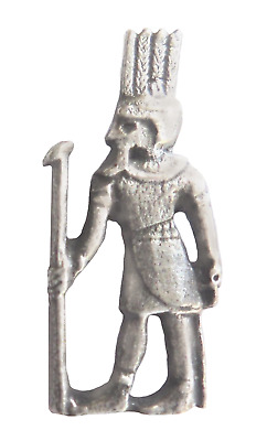 Shu Egyptian God of the Wind & Air Pewter Pin Badge