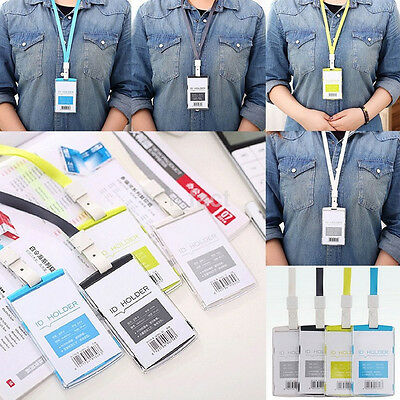 Security Badge ID Holder Pass Lanyard Card Wallet Tag Neck Strap Hot Sale UK