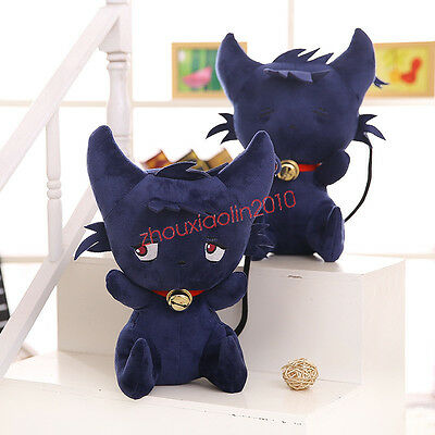 Anime SERVAMP Shirota Mahiru Kuro Plush Doll Toy Black Cat SleepyAsh Cosplay