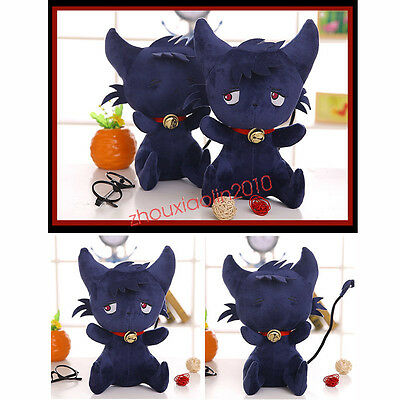 SERVAMP Shirota Mahiru Kuro Plush Doll Toy Black Cat SleepyAsh Cosplay Anime