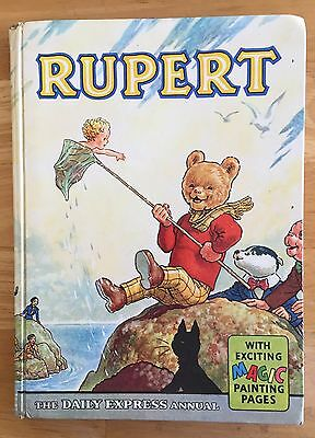 RUPERT ORIGINAL ANNUAL 1963 Not Inscribed Price Intact 2 x Magic Paintings done