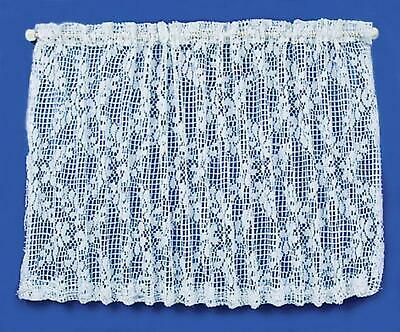 Dolls House Picture Window White Lace Net Curtain Miniature Window Accessory