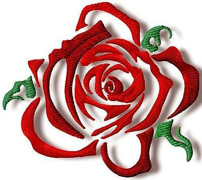 Quick Roses 10 Machine Embroidery Designs Cd 2 Sizes Included