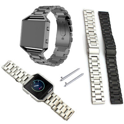 UK Replacement Stainless Steel Bracelet Strap Watch Band for Fitbit Blaze w/pins