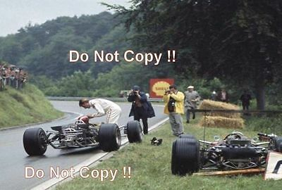 Graham Hill & Jo Siffert Lotus 49's French Grand Prix 1968 Photograph 1
