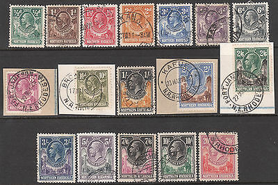 Northern Rhodesia 1925 1929 Used Gv Stamp Set