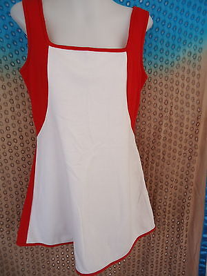TENNIS DRESS Size 14 VINTAGE RETRO White & Red Penny H Penny Court BNWOT #90JJ
