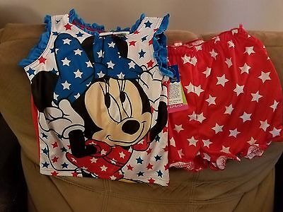Minnie Mouse Toddler Girls Fourth of July Pajamas