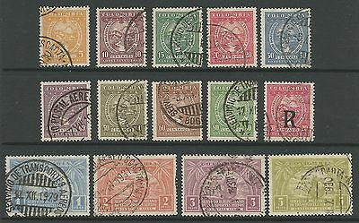 COLOMBIA. 1929. SCADTA Pictorial Internal Airmail Set. SG: 56/68. Fine Used.