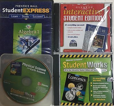 Grade 9 Curriculum 4-Subject CD-Rom Set Homeschool 9th Homeschooling