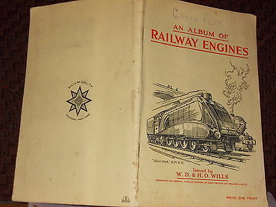 Wills cigarette card album railway engines  complete exc +     REDUCED