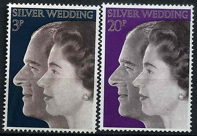GB 1972 SG#916-7 Royal Silver Wedding MNH Set #D49931