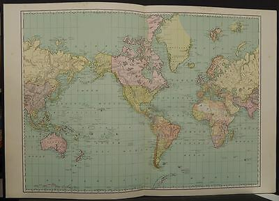 World Map 1894  Double Page Q5#37