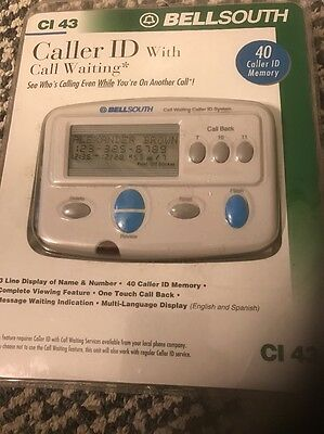BELLSOUTH Caller ID with Call Waiting  CI 43 Free Shipping NEW IN PACKAGE
