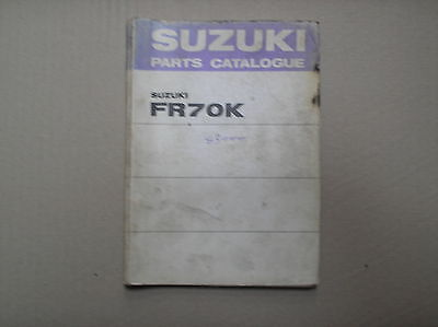 Suzuki FR 70 FR70 FR70K genuine parts catalogue August 75 99000-91801 good USED