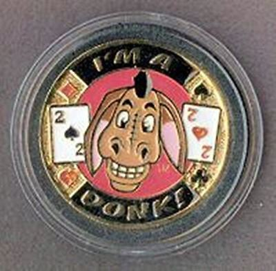 I'm a Donk! Poker Card Cover Protector - Comes with Free Cut Card!