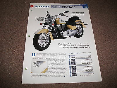 SUZUKI VL1500 INTRUDER the complete data/fact file from essential superbikes