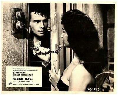 Tiger Bay original lobby card Horst Buccholz Shari with cleavage