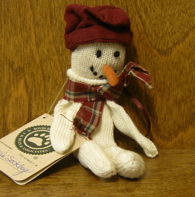 Boyds Plush Ornament #56290-01 CHILLIN'  SOCKLEY, NEW/Tag From Retail Store 7""