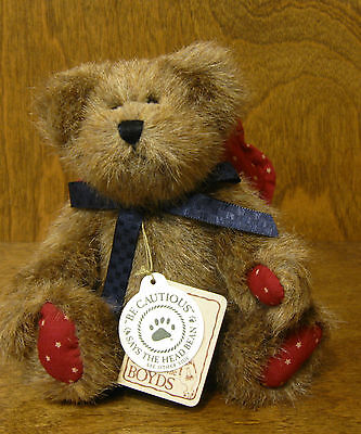"Boyds Plush Americana Ornament 562403 BETSIE ANGELSTAR, 5.5"" From Retail Store"
