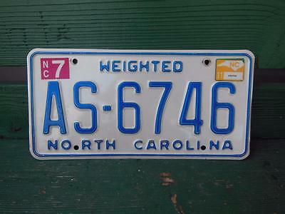 North Carolina As-6746 Weighted License Plate Garage Man-Cave Automobile Bar