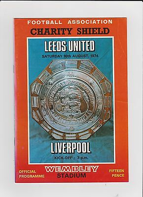 1974 F.A.Charity Shield.Leeds United v Liverpool.