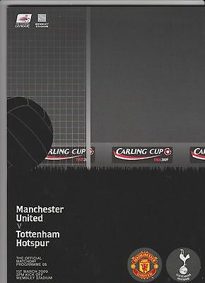 2009 League Cup Final.Manchester Utd v Tottenham H.